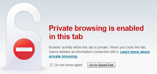 Opera-Private-browsing