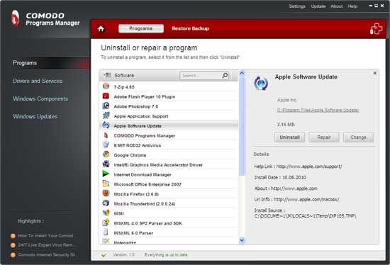 comodo-program-manager