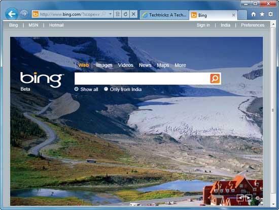 IE9-Bing