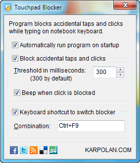 Touchpad-blocker