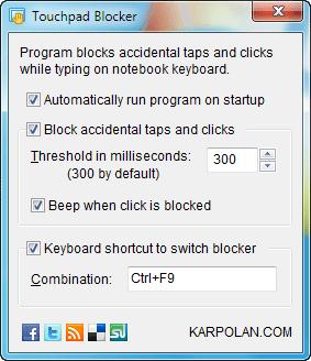 Touchpad-blocker