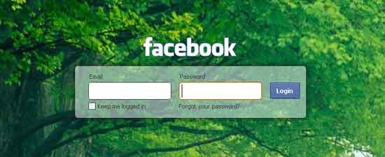 Facebook-custom-login-page