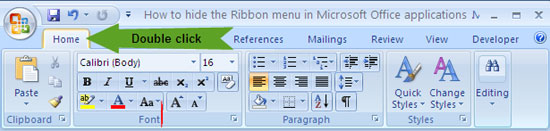Ribbon-interface