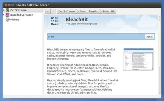 Bleachbit-install