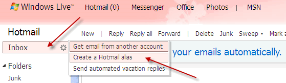 Hotmail-alias