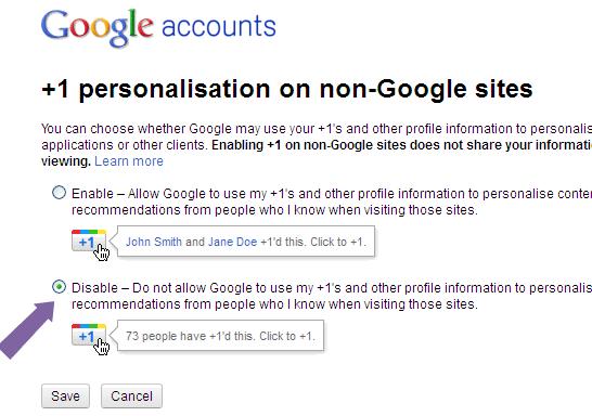 Google+1-Personalization