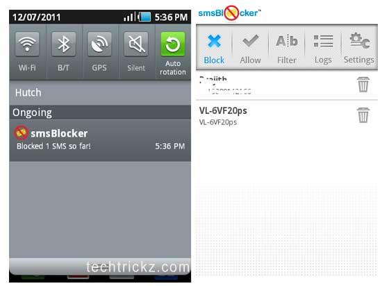 SMSblocker