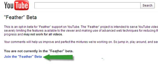 YouTube-Feather