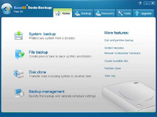 EASEUS Todo Backup Free v3.0.0.1 Build 20110909