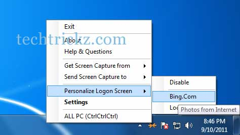 Bing-image-as-logon-screen