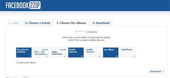 how to download photo album facebook