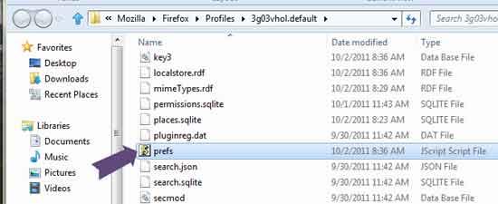 Firefox-Preferances