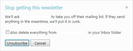 Hotmail Unsubscribe