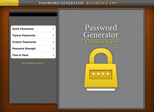 Wolfram-Password-generator