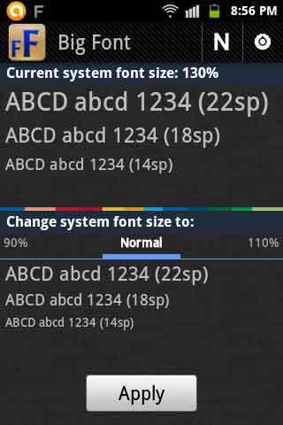 Big-Font-option