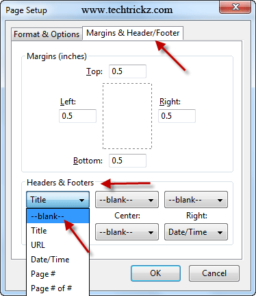 IE-Page-Setup