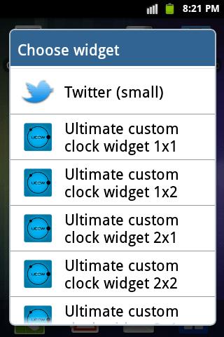Android-clock-widget-option-2
