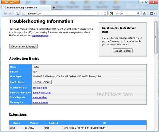 Firefox-Reset-Option