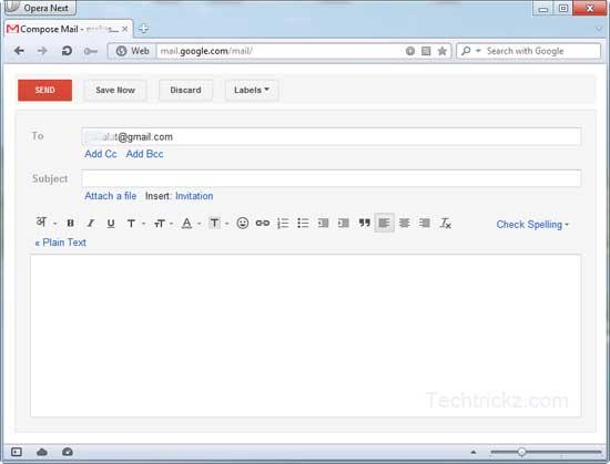 Gmail-in-Opera
