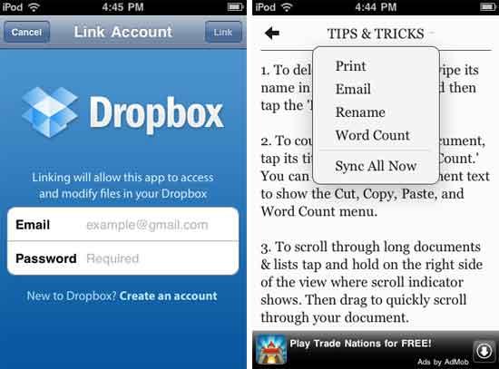 Plain-Text-For-Dropbox