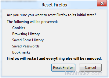 Reset-Firefox