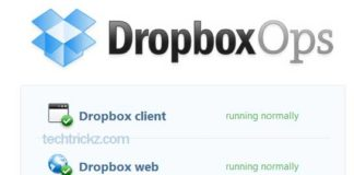 Dropbox-Status