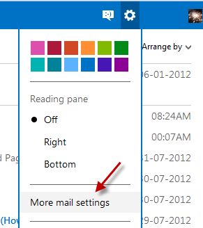 Outlook-Mail-settings