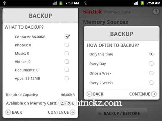 Sandisk-Memory-Zone-backup-option