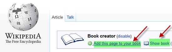Wikipedia-Book-Creator