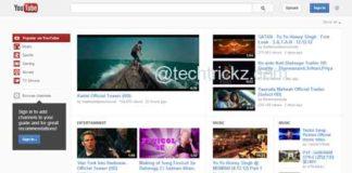 YouTube-Homepage