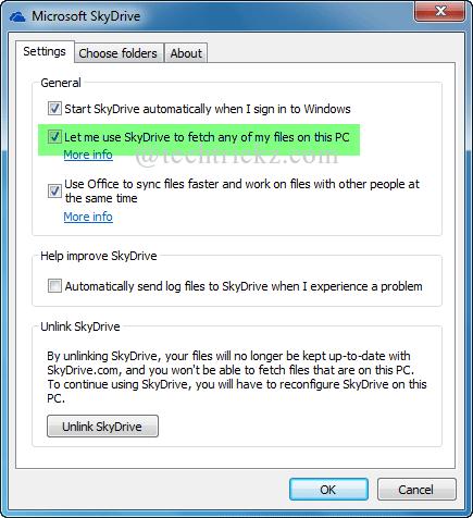 Microsoft-SkyDrive-settings