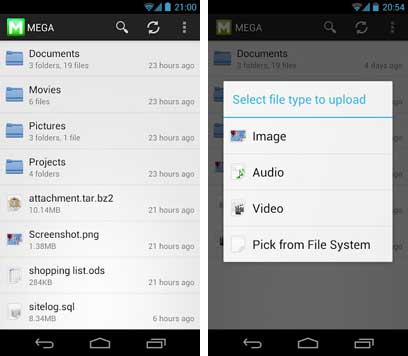 Mega-for-Android-file-manager