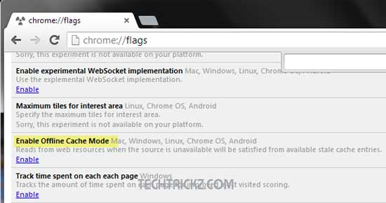 Offline-Cache-Mode-in-Chrome