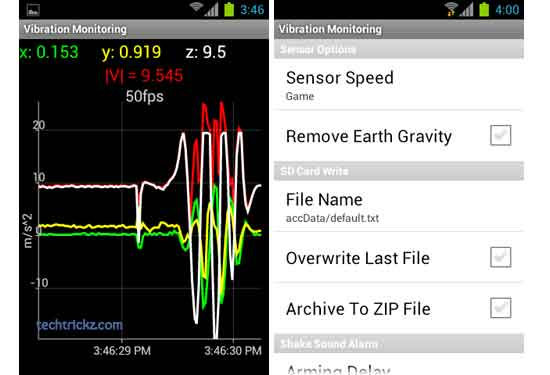 Vibration-Monitoring-for-Android