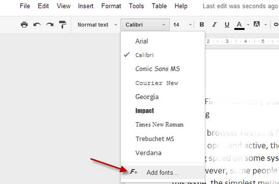 How to add over 450 new fonts to google docs techtrickz for Fonts for google docs android