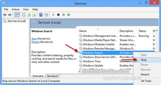 Stop-Windows-Search