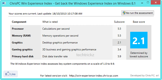 Windows-Experiance-Index
