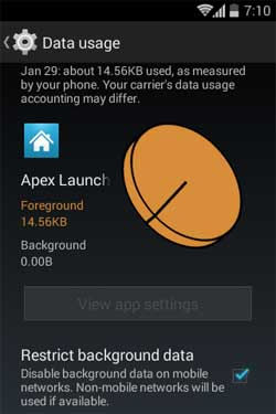 app's data use
