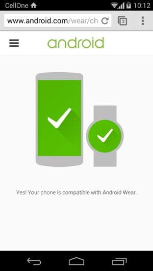 android wear check