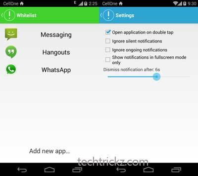 notification up app