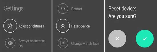 android gear reset