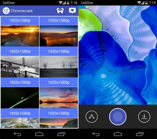 Set Chromecast Slideshow Images As Your Android Phones