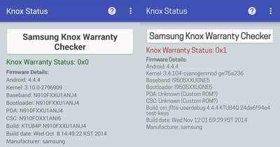 Samsung warranty status