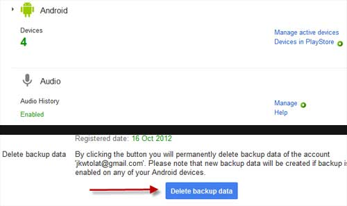 delete backup-data-on-android