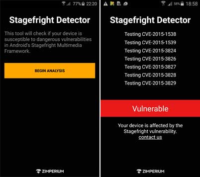 Stagefright-detector