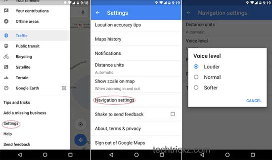 increase-Google-maps-navigation-voice-level