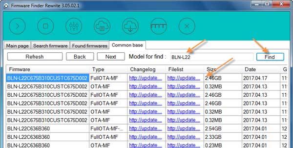 Huawei-Firmware-Finder