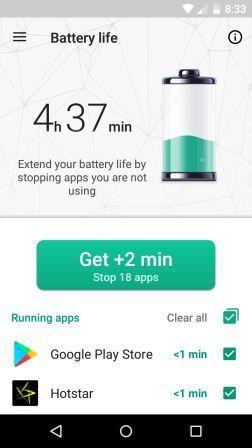 Kaspersky Battery life app
