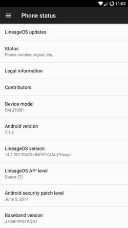 Galaxy-J7-LineageOS-14.1